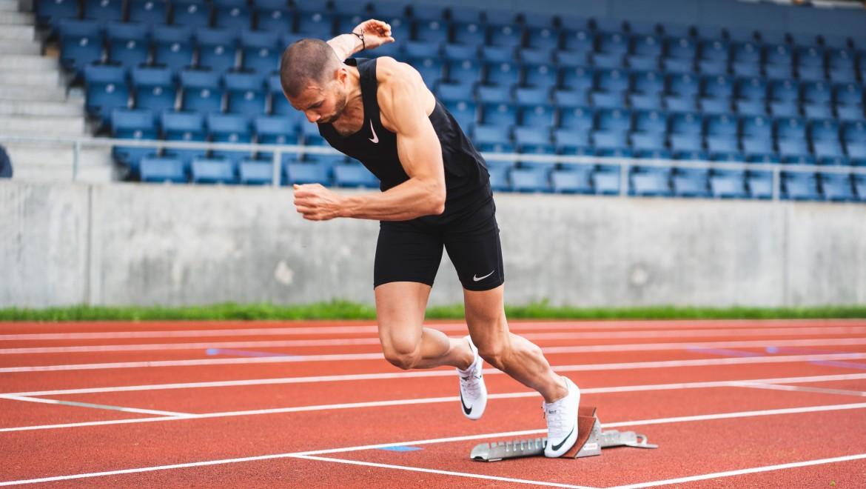 Kariem Hussein beim Training